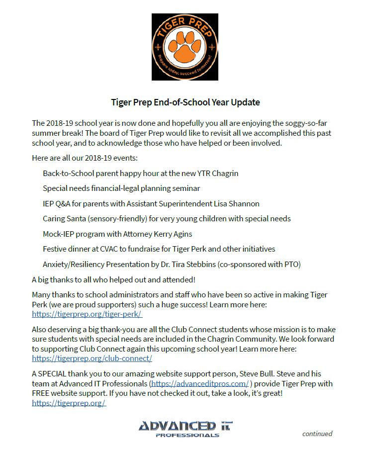 Tiger Prep is a 501(c)(3) nonprofit
